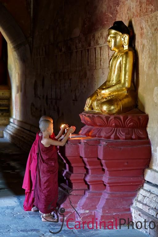 Bagan, Myanmar, Novices, Sulamani, Sunset