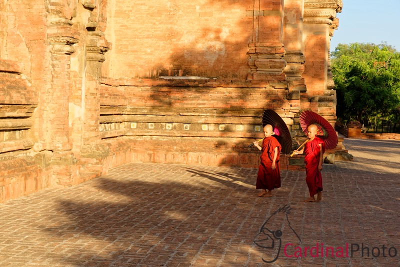 Bagan, Myanmar, Novices, Sulamani, Sunset