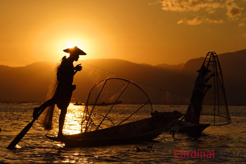 Intha Fishermen on Inle Lake, Shan State, Myanmar