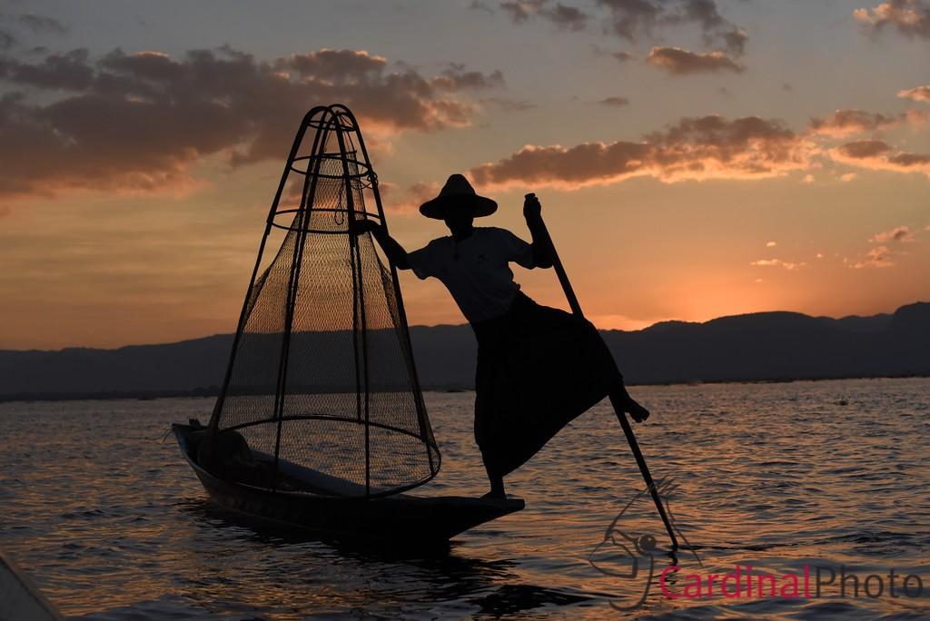 Intha Fishermen on Inle Lake, Shan State, Myanmar