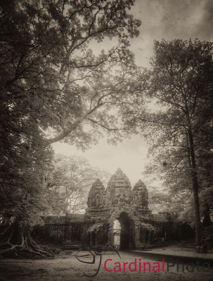 North Gate of Angkor Thom IR