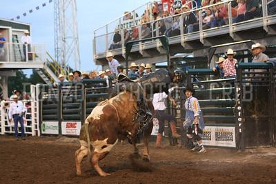 PRCA BULL RIDING 1 2012-0814-029