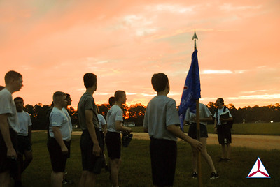 Cadet students gather for PT and morning formation. Photo Credit: C/SSgt.  Pierce Dineen, GA002