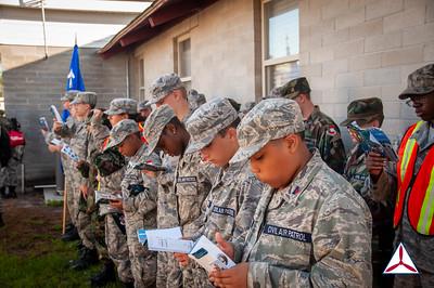 Cadets study their Encampment Training Guides.  Photo Credit: C/2dLt Jacob Hoernlein, MAR-NC300