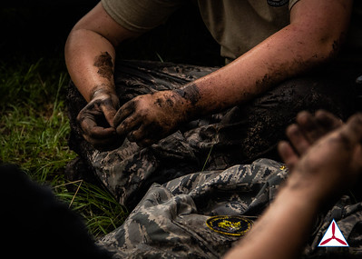 A cadet covered in dirt after going through the IMT course. Photo Credits: C/2dLt Jacob Hoernlein, NC300