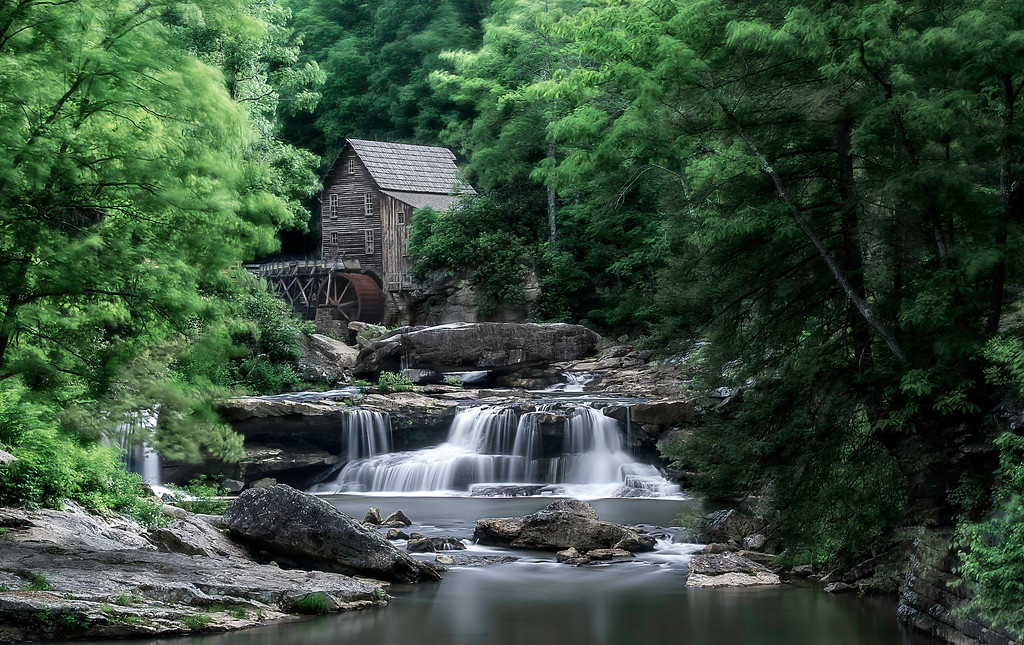 Glade Creek Grist Mill; Babcock State Park; West Virginia; USA