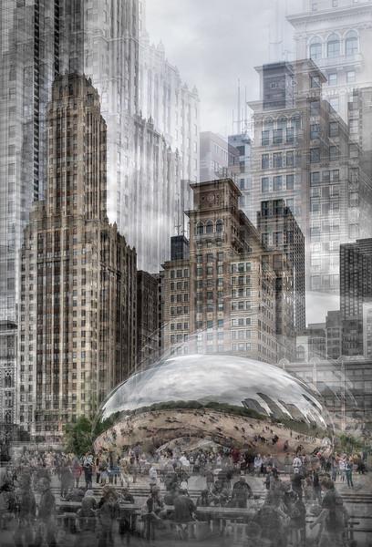 Cloud Gate; The Bean; Millennium Park; Chicago; Illinois; USA