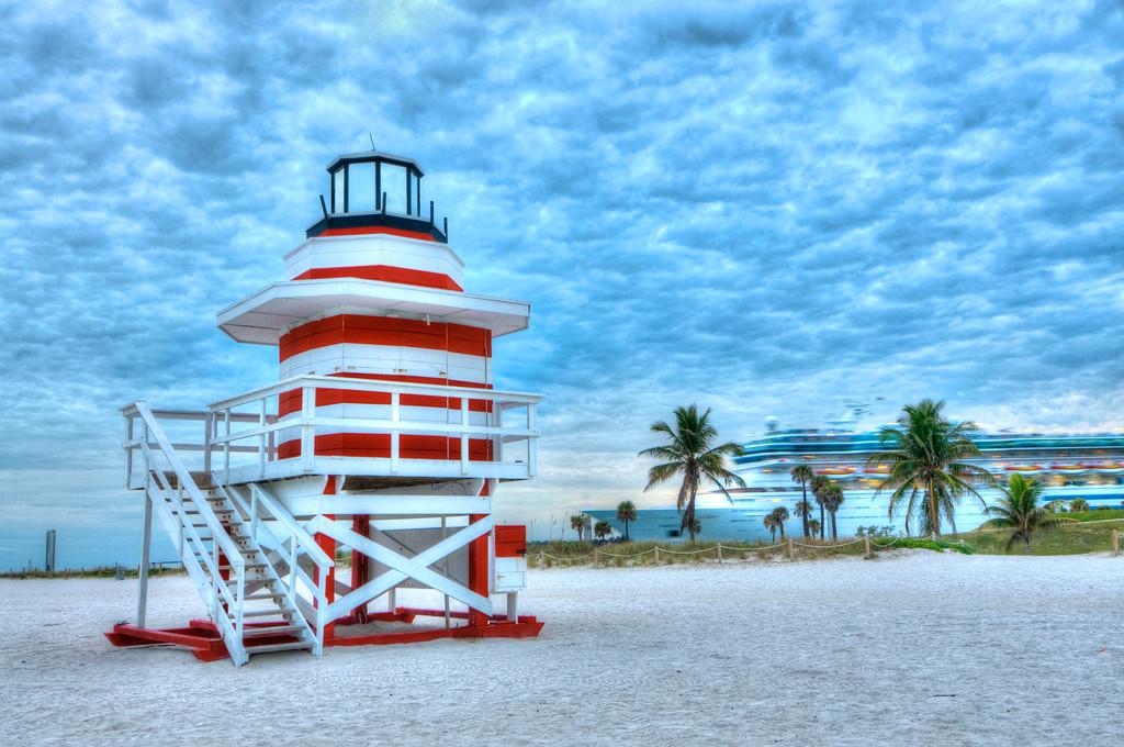Life Guard Stand; Miami Beach; South Beach; Miami; Florida; USA