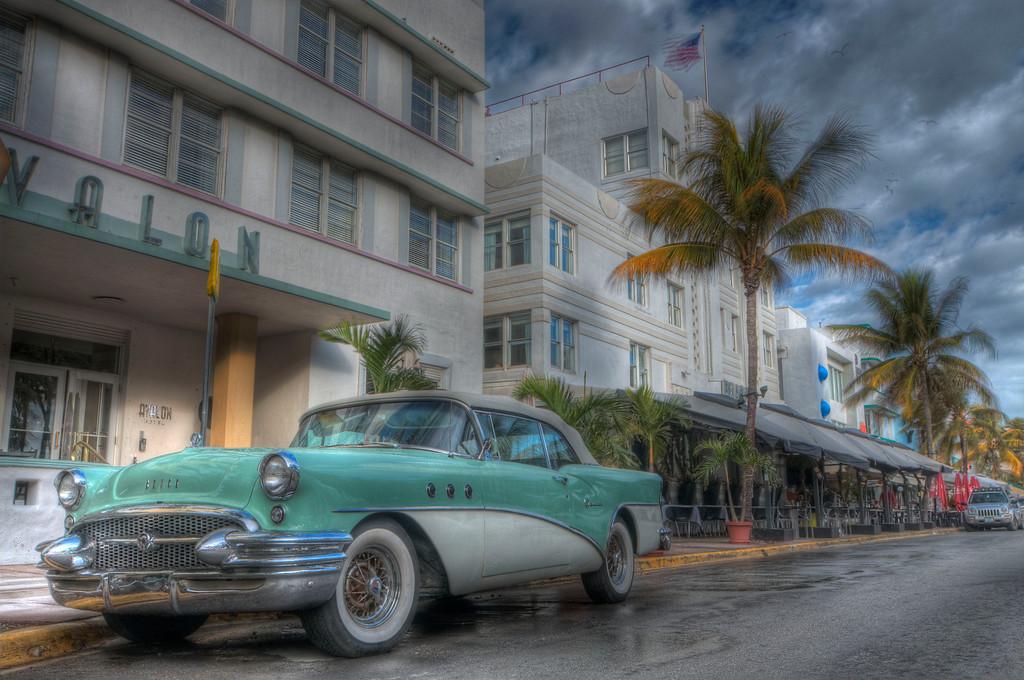 Art Deco District; Ocean Drive; South Beach; Miami Beach; Miami; Florida; USA