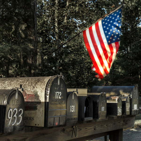 Stars & Stripes; Mailboxes; Virginia; USA