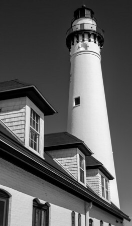 Windpoint Lighthouse. Winpoint Wisconsin.
