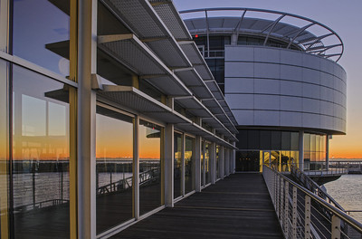 Dawn at Discovery World. Lake Michigan, Milwaukee Wisconsin