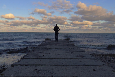 Self portrait. Sheridan Park on Lake Michigan, Cudahy Wisconsin.