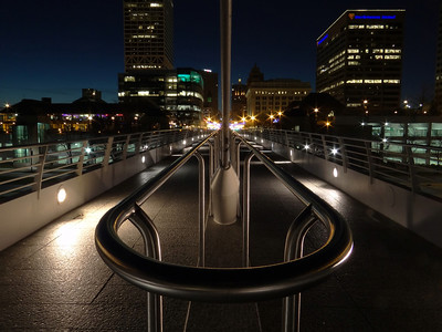 Milwaukee Night View. Seen from Calatrava Museum.