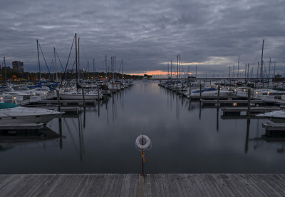 Dawn at The Marina. Lake Park, Milwaukee, Wisconsin