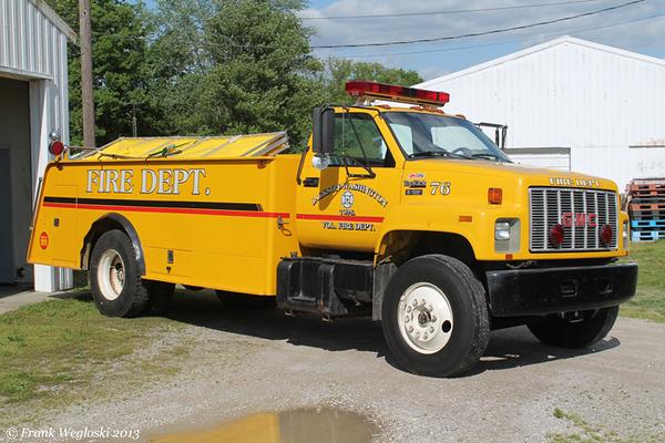 Tanker 76 - 1990 GMC TopKick/1993 FD – 250gpm/1600gal