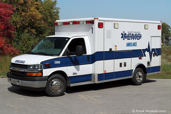 Former Ambulance 1 (2365) - 2009 Chevy C4500/Crossroads Ambulance/2005 Wheeled Coach Type III