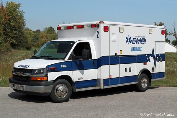 Former Ambulance 2 (2364) - 2009 Chevy C4500/Crossroads Ambulance/2005 Wheeled Coach Type III