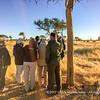 Cold and windy early morning Rhino tracking by foot, Otjiwa Safari Lodge, Namibia
