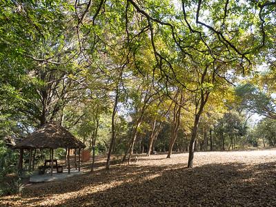 Pontoon campsite