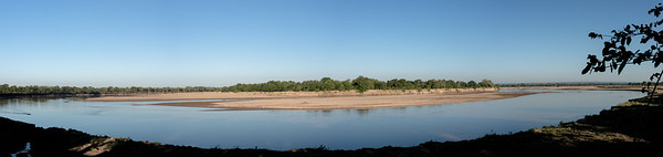 Luangwa river from Wildlife Camp