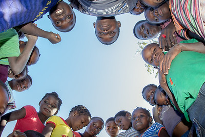 Students at a small primary school in rural Gaza Province, Mozambique, want a closer look at the camera. For most children in this area, seeing a photo of themselves taken by a Westerner like myself offers them the best look that they have ever seen of their own face.