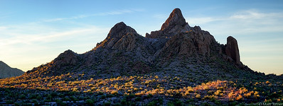 Last light North Ajo Peak