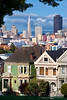 Painted Ladies in the Day - Alamo Square Area, San Francisco, California - Marty Farwell - March 2008