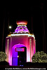 Self Realization Fellowship bathed in holiday colors.