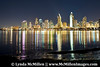San Diego skyline night lights #3 and Mission Bay from Coronado Island.