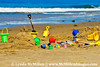 Beach Toys await napping children