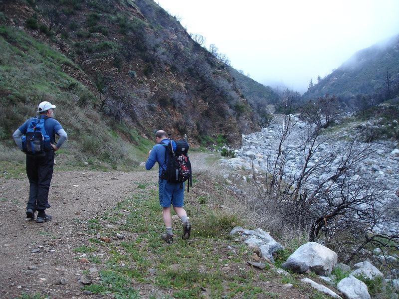 After a mile on asphalt we entered Deer Canyon.