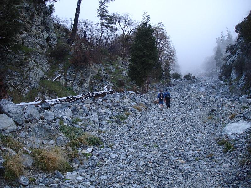 Joe and Rick walking north in Deer Canyon.