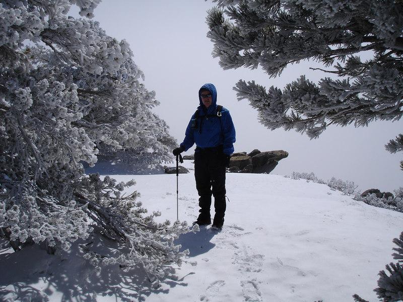 Rick on the summit of Cucamonga Peak (8,859 ft).