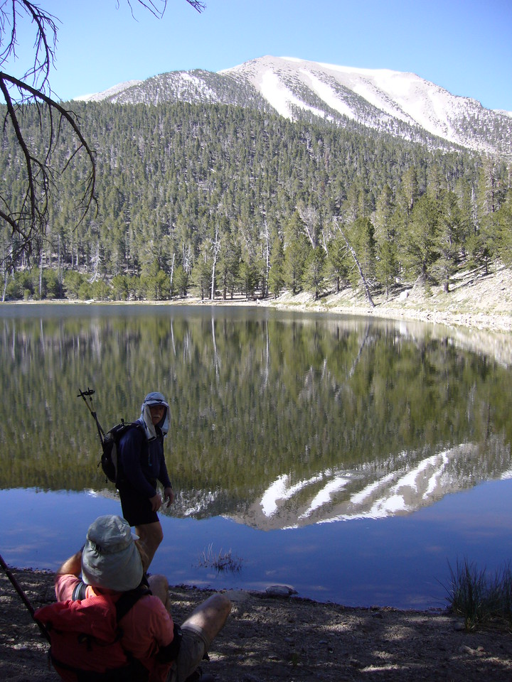Tony sucking in the beauty of Dry Lake environs.<br /> <br /> San Gorgonio Wilderness : South Fork : Dry Lake : San Gorgonio Mountain : Dollar Lake