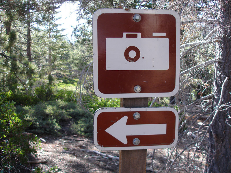 Photo opportunity at Poopout Hill.<br /> <br /> San Gorgonio Wilderness : South Fork : Dry Lake : San Gorgonio Mountain : Dollar Lake