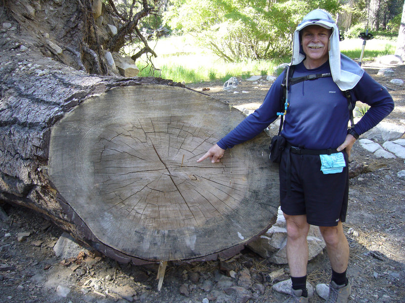 "Rick asked me to point to the ring representing <a href=""http://en.wikipedia.org/wiki/John_Muir"" target=""_blank"">John Muir's birth (1838)</a> .  San Gorgonio Wilderness : South Fork : Dry Lake : San Gorgonio Mountain : Dollar Lake"