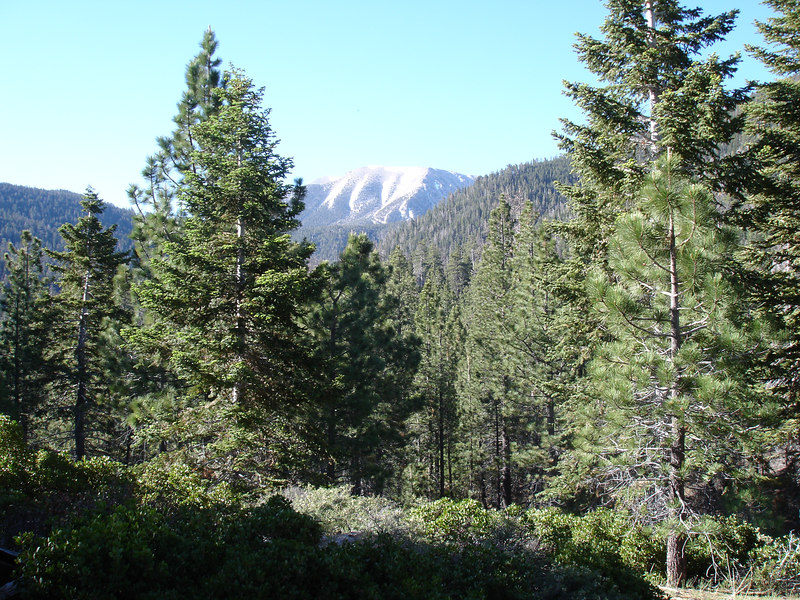 Our first glimps of San Gorgonio Mountain.<br /> <br /> San Gorgonio Wilderness : South Fork : Dry Lake : San Gorgonio Mountain : Dollar Lake