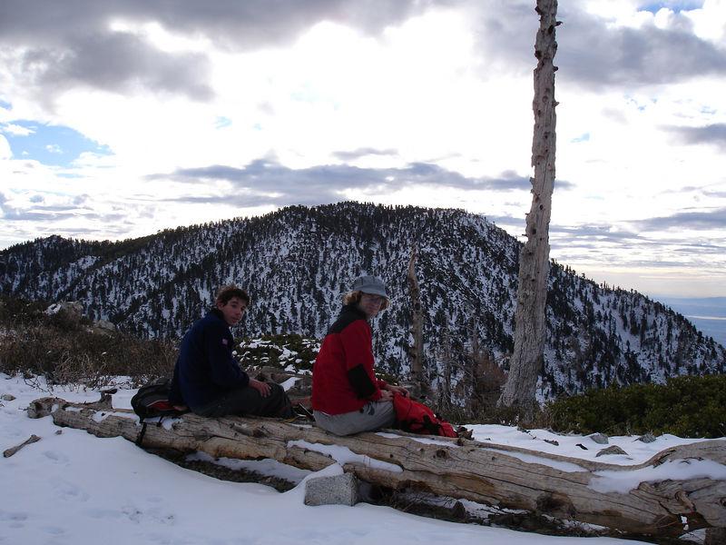 Cucamonga Peak from Bighorn Peak.