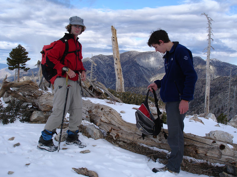The summit of Bighorn Peak; Baldy in the background.
