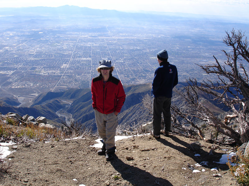 Looking south from Cucamonga Peak; Santiago Peak in the background.