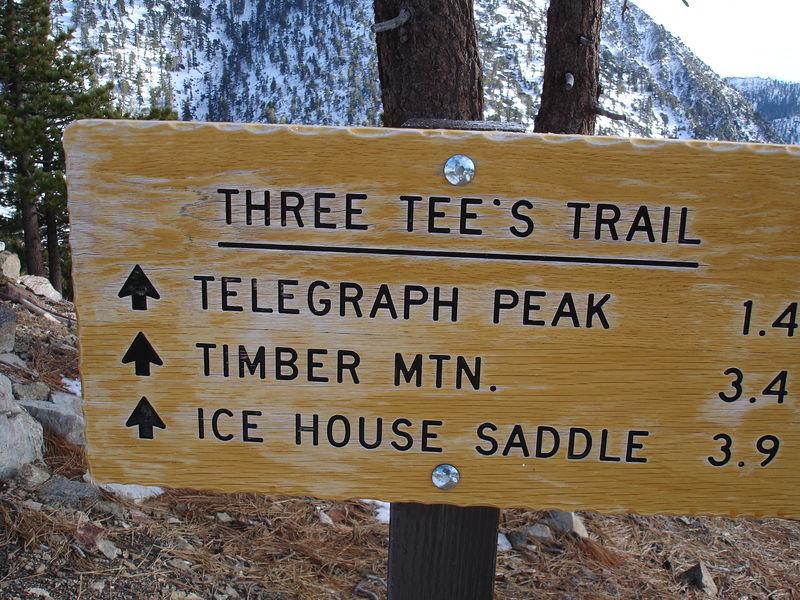 Trail Sign at Thunder Mountain trailhead.