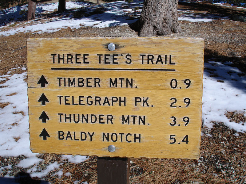 Sign at Icehouse Saddle.