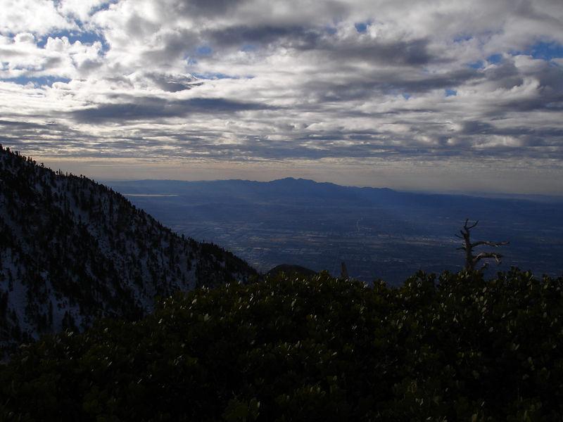 South from Bighorn Peak; Santiago Peak in the background.