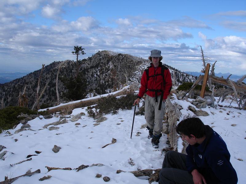 Bighorn Peak; Ontario Peak in the background.