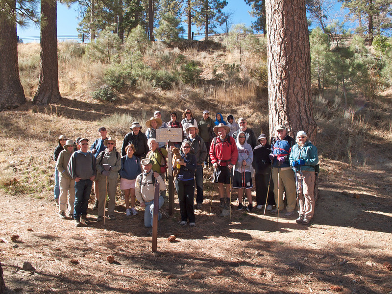 Twenty-five strong participated in the hike.