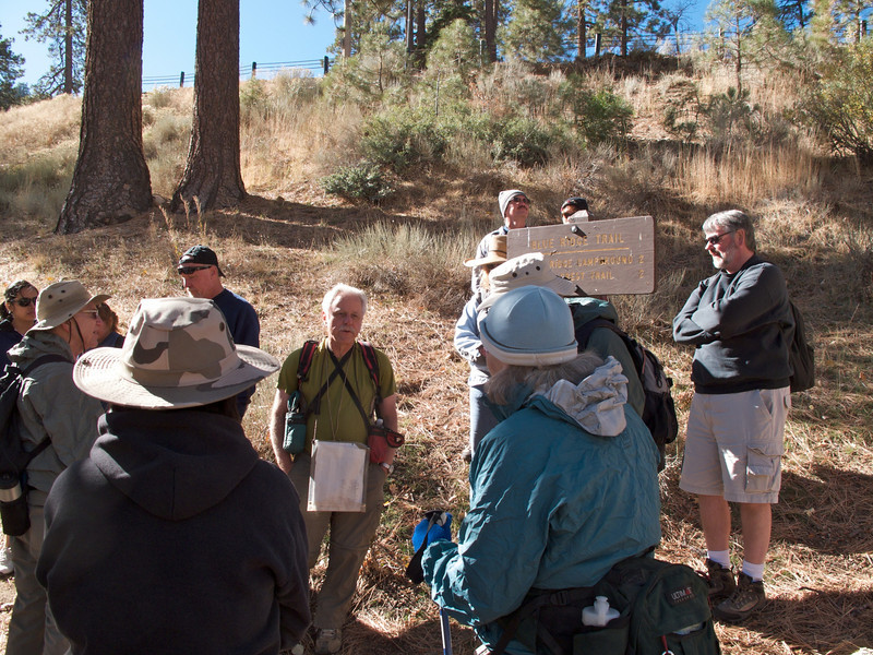 Rick McHard giving us a description of the trail at the trailhead.