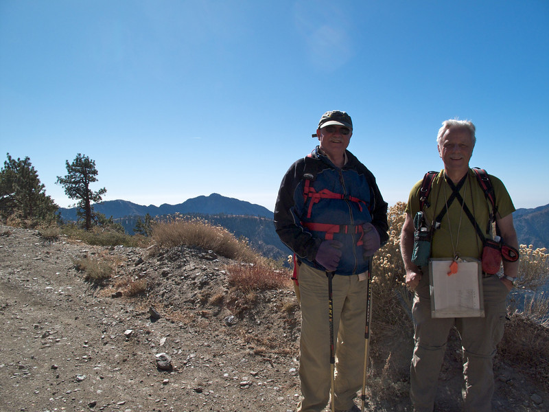 Bill Landrey and Rick McHard; Iron Mountain and San Antonio Ridge in the background.