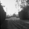 Union Pacifi/Glendale & Montrose right-of-way south of Forest Lawn Cemetery in Glendale in June of 1956.  Scene looking west toward Glendale Boulevard.<br /> <br /> Photographer unkown,<br /> Raymond E Younghans Collection