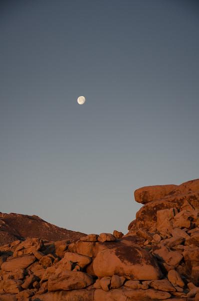 Moon Over Rocks